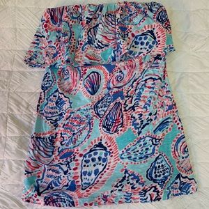 Lilly Pulitzer ruffle tube top